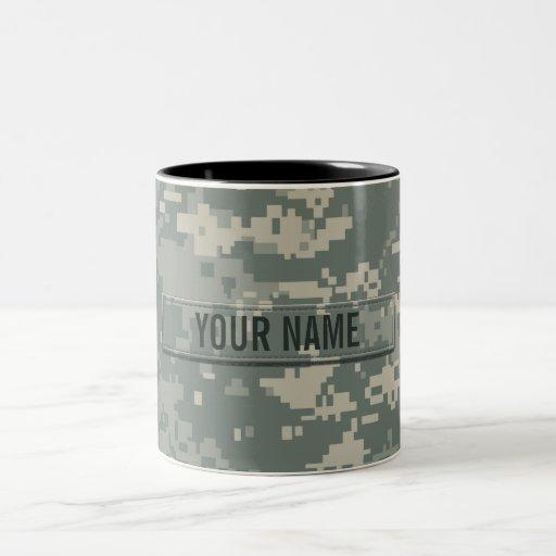 Army ACU Camouflage Customizable Coffee Mugs