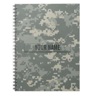 Army ACU Camouflage Customizable Spiral Notebook