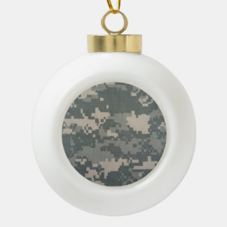 ARMY ACU CERAMIC BALL CHRISTMAS ORNAMENT