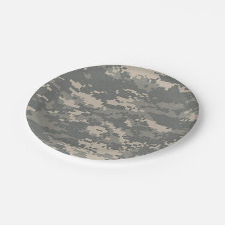 ARMY ACU Digital Camo Camouflage Paper Plates 7 Inch Paper Plate
