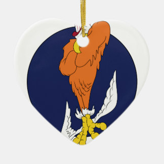 ARMY AIR CORPS 508th Bomb Squadron Ceramic Heart Decoration