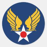 Army Air Corps Round Sticker