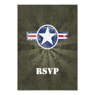 Army Air Corps Vintage 9 Cm X 13 Cm Invitation Card