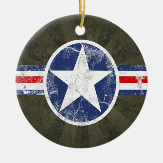 Army Air Corps Vintage Christmas Ornament