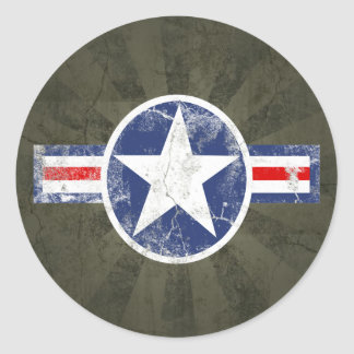 Army Air Corps Vintage Round Sticker