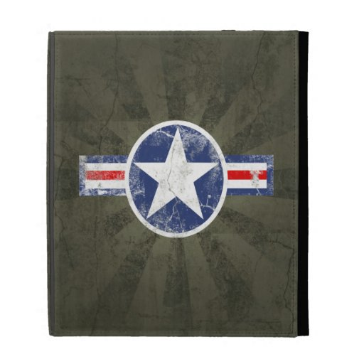 Army Air Corps Vintage Star Patriotic iPad Case