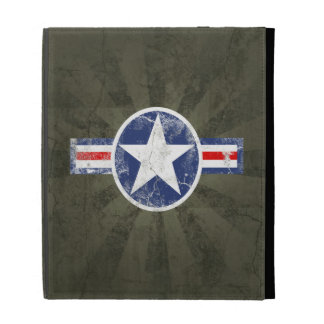 Army Air Corps Vintage Star Patriotic iPad Folio Case