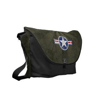 Army Air Corps Vintage Star Patriotic Messenger Bags