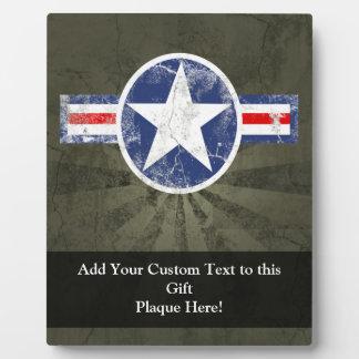 Army Air Corps Vintage Star Patriotic Plaque