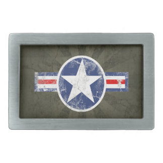 Army Air Corps Vintage Star Patriotic Rectangular Belt Buckles