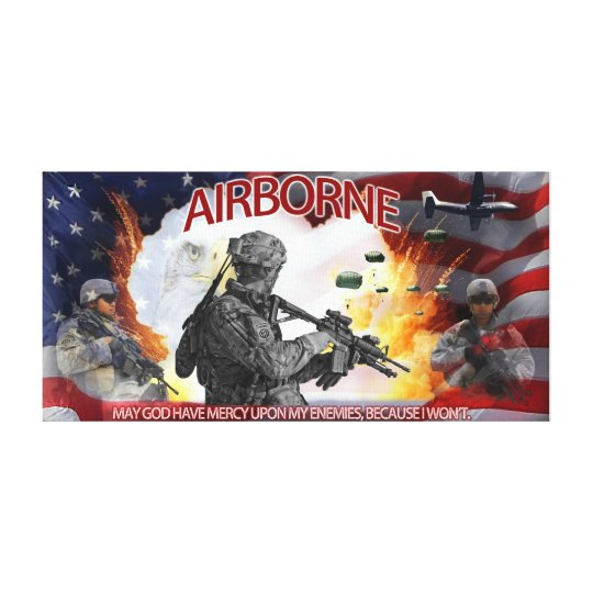 Army Airborne Mercy Canvas Poster Canvas Print