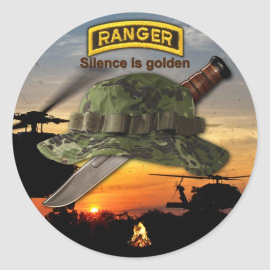 Army Airborne Ranger LRRP Recon LRRPS Classic Round Sticker
