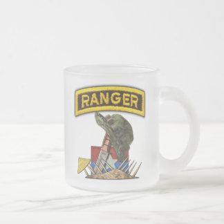 Army Airborne Rangers Veterans Vietnam Nam War Frosted Glass Coffee Mug