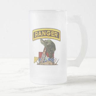 Army Airborne Rangers Veterans Vietnam Nam War Frosted Glass Mug