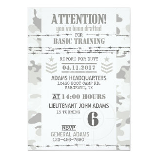 Army Arctic Camouflage Military Birthday Card