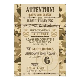 Army Arid Camouflage Military Birthday Card