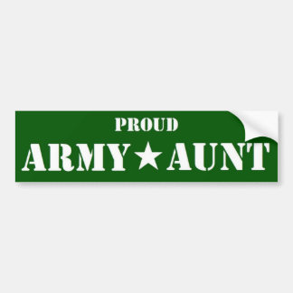 Army Aunt green Bumper Sticker