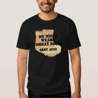 Army Aunt Niece Desert Combat Boots Tee Shirt