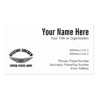 Army Aviation Badge Pack Of Standard Business Cards