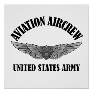 Army Aviation Badge Poster