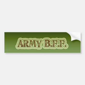 Army B.F.F. Bumper Sticker