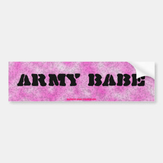 Army Babe-Pink Camouflage Bumper Sticker