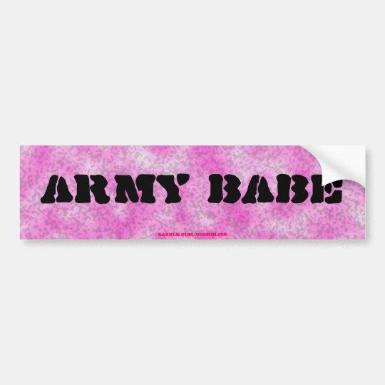 Army Babe-Pink Camouflage Bumper Sticker