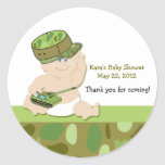 ARMY BABY MILITARY Baby Shower Favour Sticker