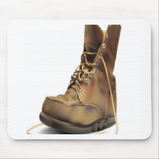 Army boot design mouse pad