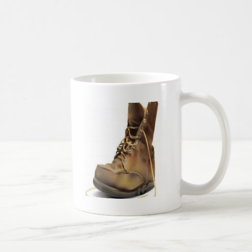 Army boot design coffee mugs