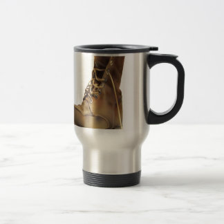Army boot design stainless steel travel mug
