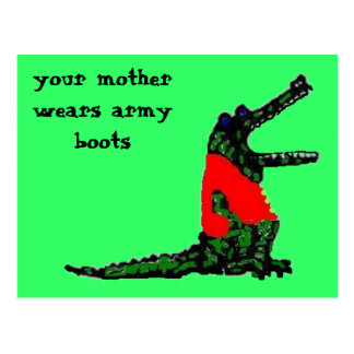 army boots postcard