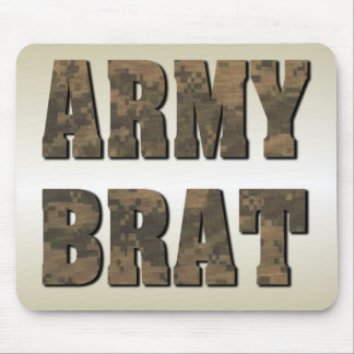 Army Brat in Camouflage Mouse Pad