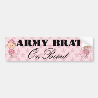 Army Brat On Board Girl (Light Skin) Bumper Sticker