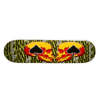 Army Brat Skull and Ace Design Skate Board