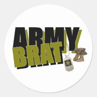 ARMY BRAT CLASSIC ROUND STICKER