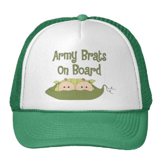 Army Brats On Board Twins Caucasian Mesh Hat