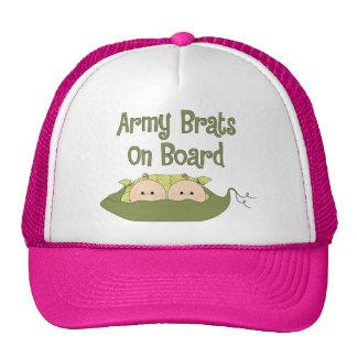 Army Brats On Board Twins (Caucasian) Hat