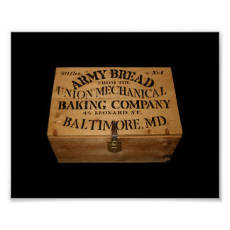Army Bread Box Poster