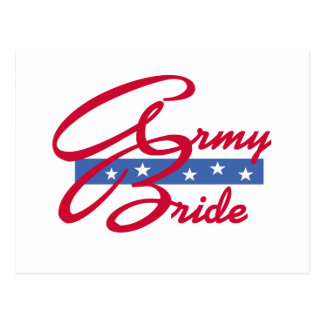 Army Bride Post Card