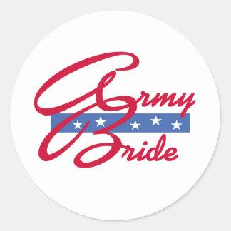 Army Bride Round Sticker
