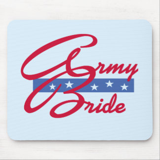 Army Bride T-shirts and Gifts Mousepad