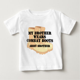 Army Brother Brother Desert Combat Boots Baby T-Shirt