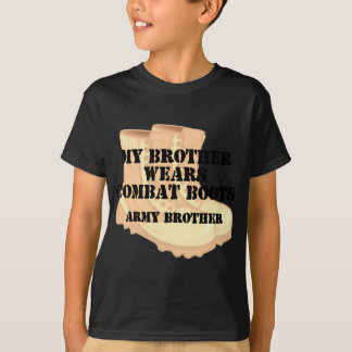 Army Brother Brother Desert Combat Boots Tshirt