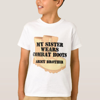 Army Brother Sister Desert Combats Boots T-shirts