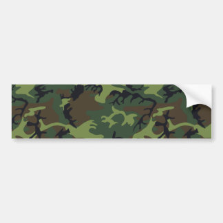 Army Camo Bumper Sticker