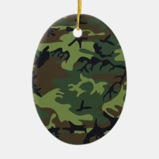 Army Camo Ceramic Oval Decoration