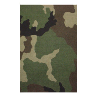 Army Camo Customized Stationery