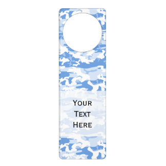 Army, Camo, Military Pattern - Blue White Door Knob Hangers