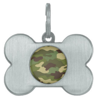 Army Camo Pet ID Tag